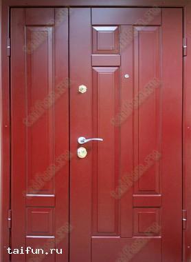 Двухстворчатая металлическая дверь с панелью мдф покрытием PIKA-TEHO